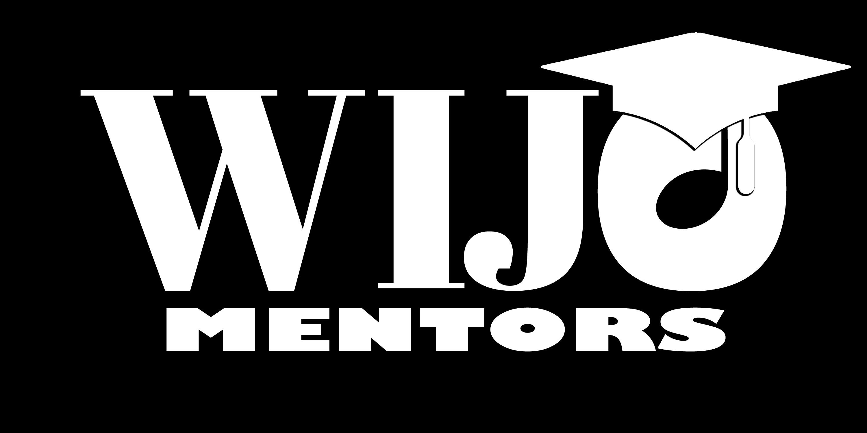 WIJO Mentors White on black