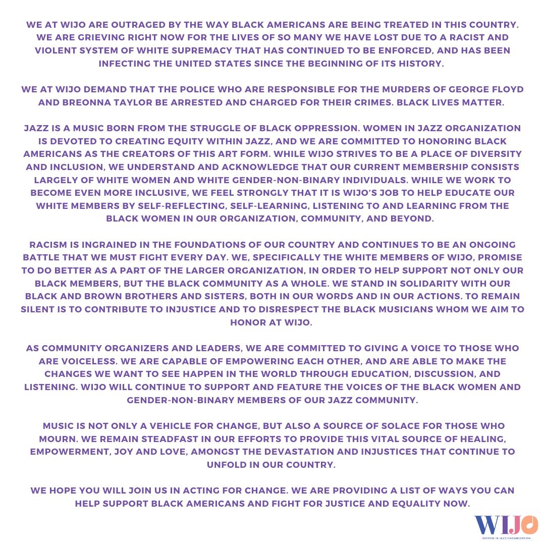 WIJO statement